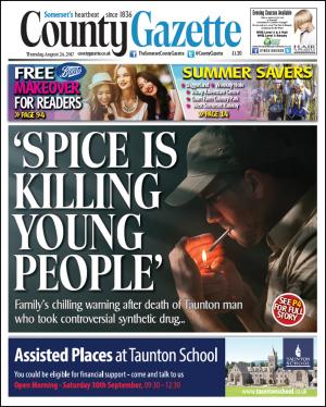 Somerset County Gazette: FAMILY WARNS: 'Spice is killing young people'