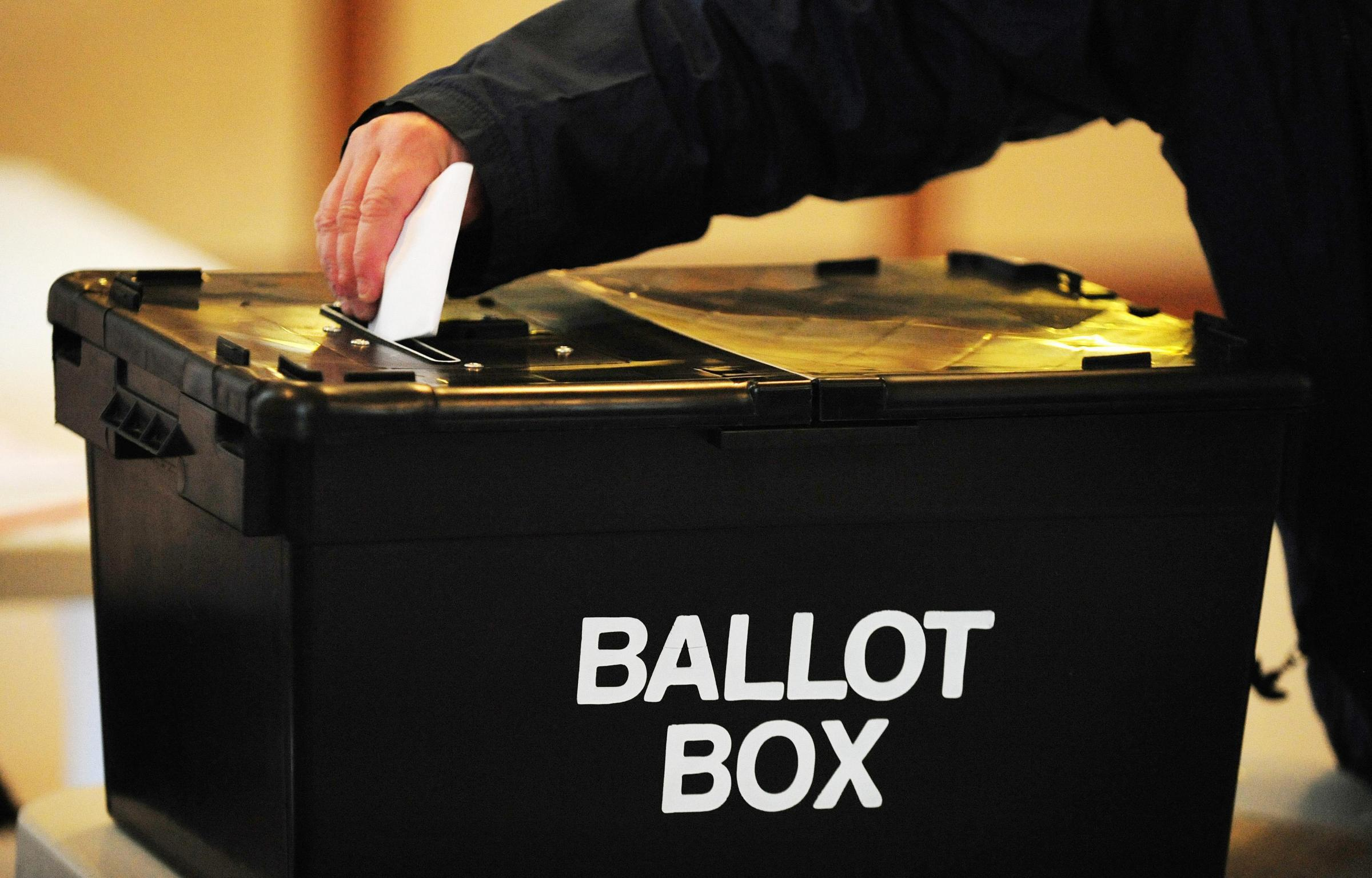 Three candidates in district council by election