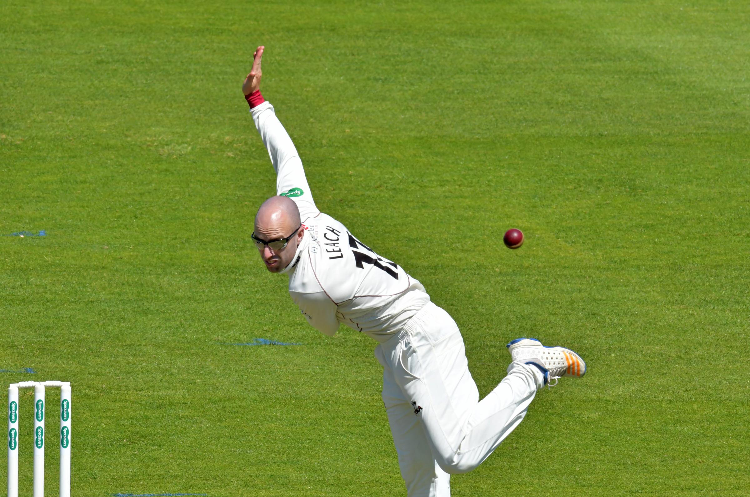 OVERLOOKED AGAIN: Jack Leach has not made the England squad for their tour of New Zealand. Pic: Somerset CCC
