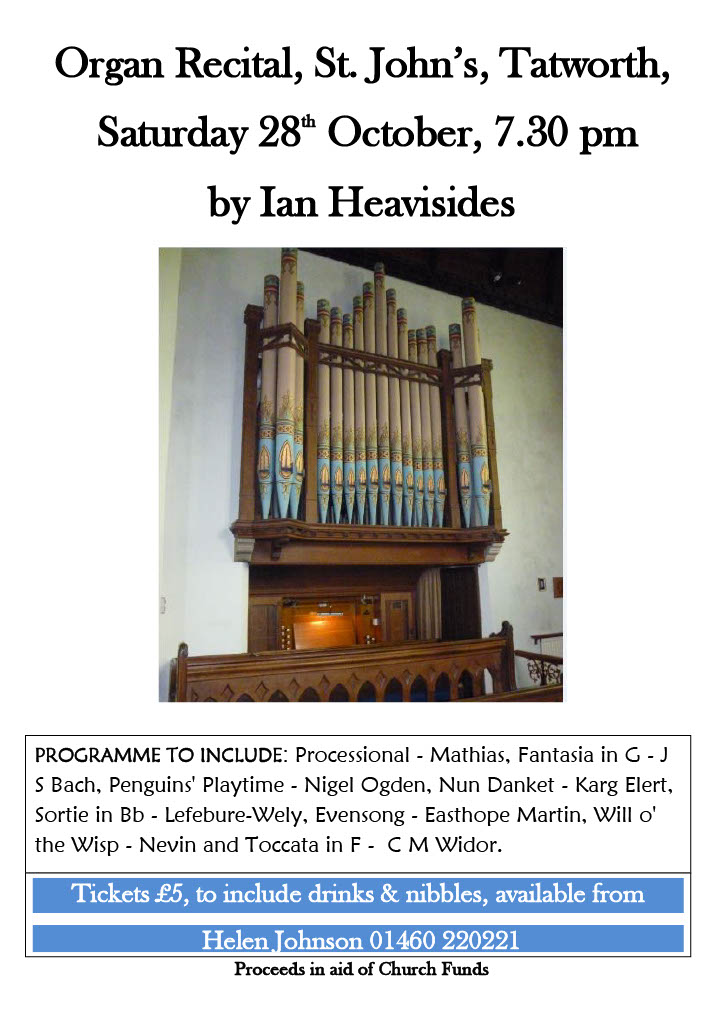 Organ Recital By Ian Heavisides