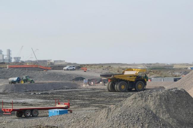 CONTINUING: Work at the new Hinkley Point C power station