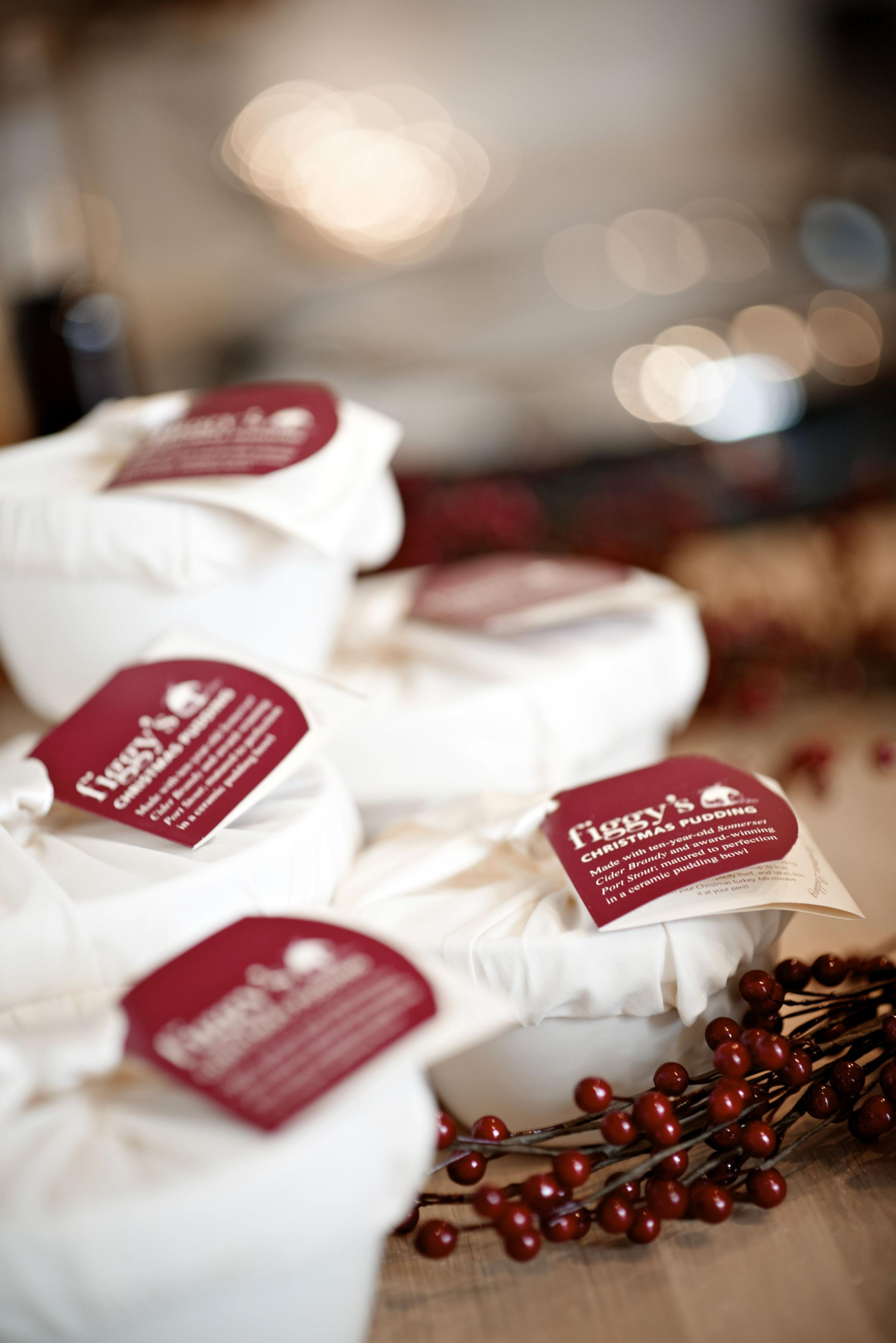 Enjoy handmade luxury Christmas puddings from Figgy's which are Devon quality