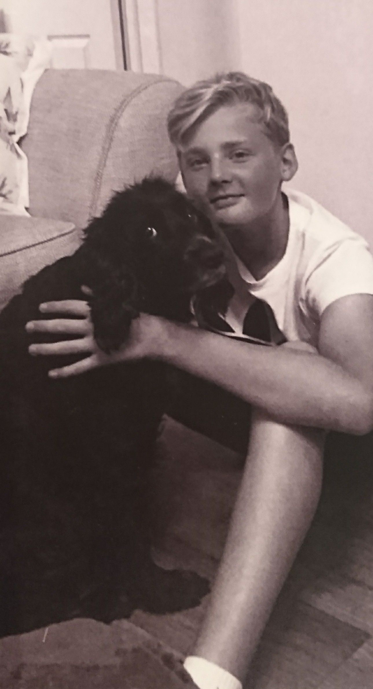 MISSED: Seb Morris from Creech St Michael with his dog, Tilly