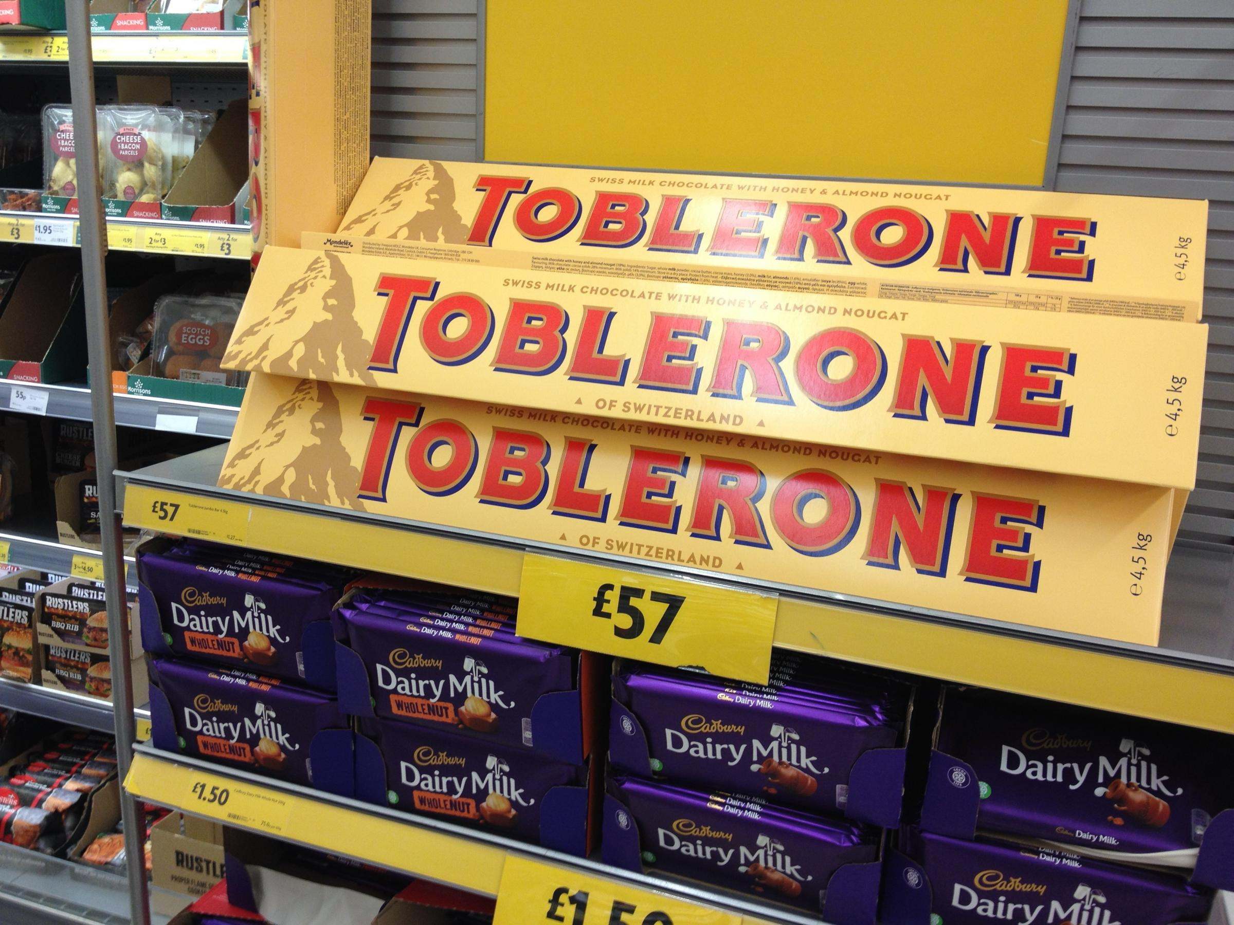 The supermarket is all over the Black Friday deals this year and this one is rather & Black Friday: Morrisons has huge Toblerone bar and Jim Beam bottle ...