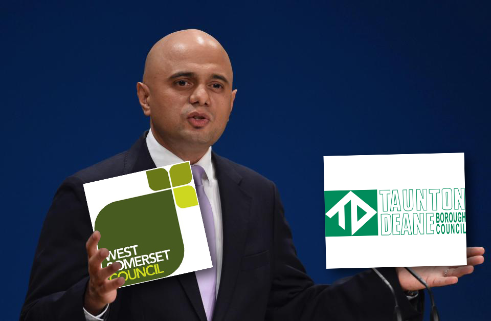 DECISION: Sajid Javid has backed the proposed merger of West Somerset and Taunton Deane councils