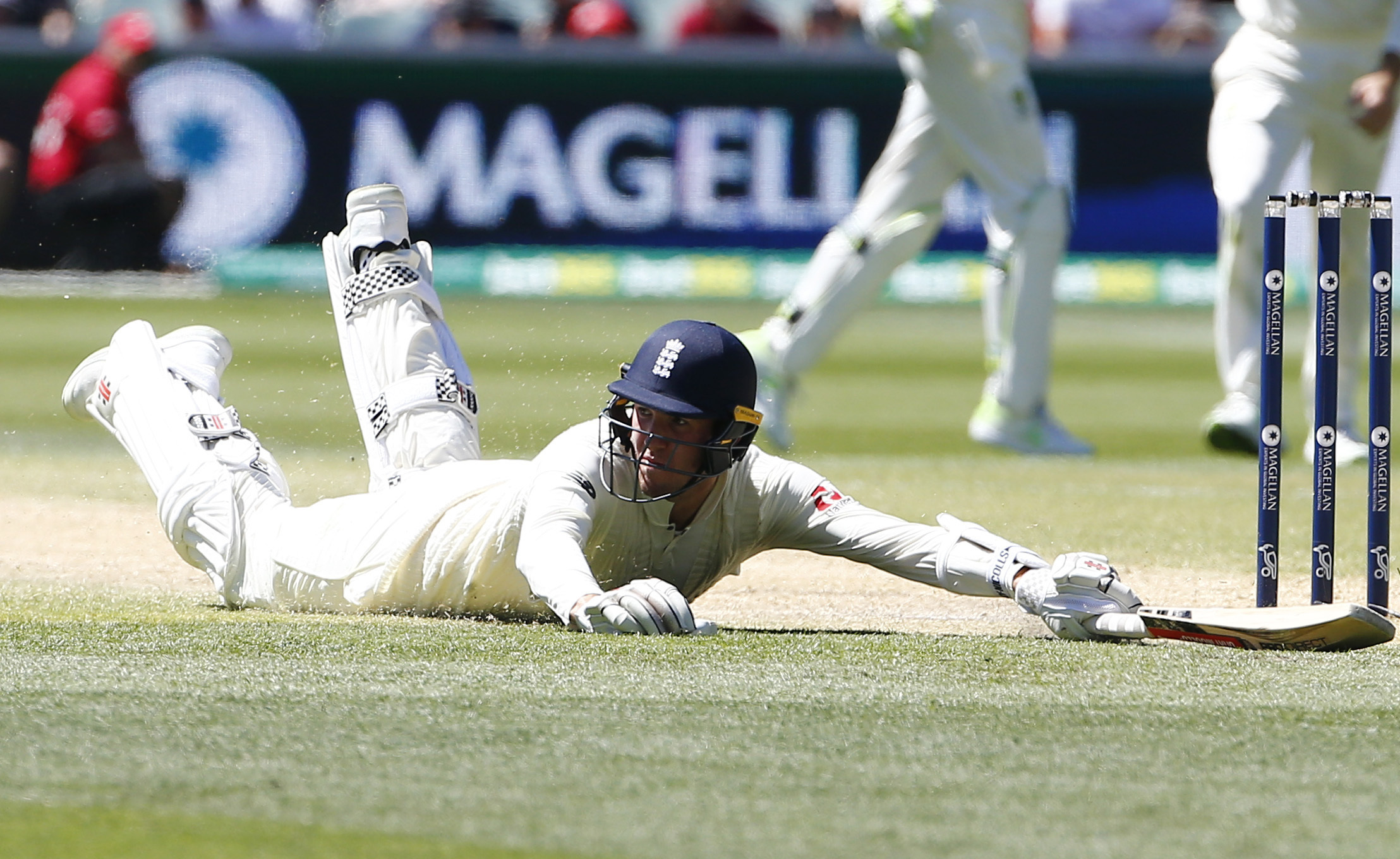 DOWN AND OUT: Craig Overton was out for 12 as England lost the third Ashes Test in Perth. Pic: PA Wire