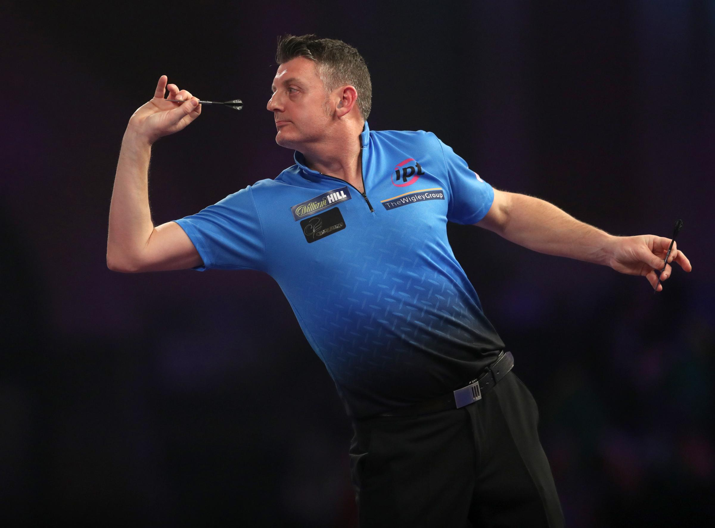 CONTROVERSY: Justin Pipe came in for criticism from Wayne Mardle. Pic: PA Wire