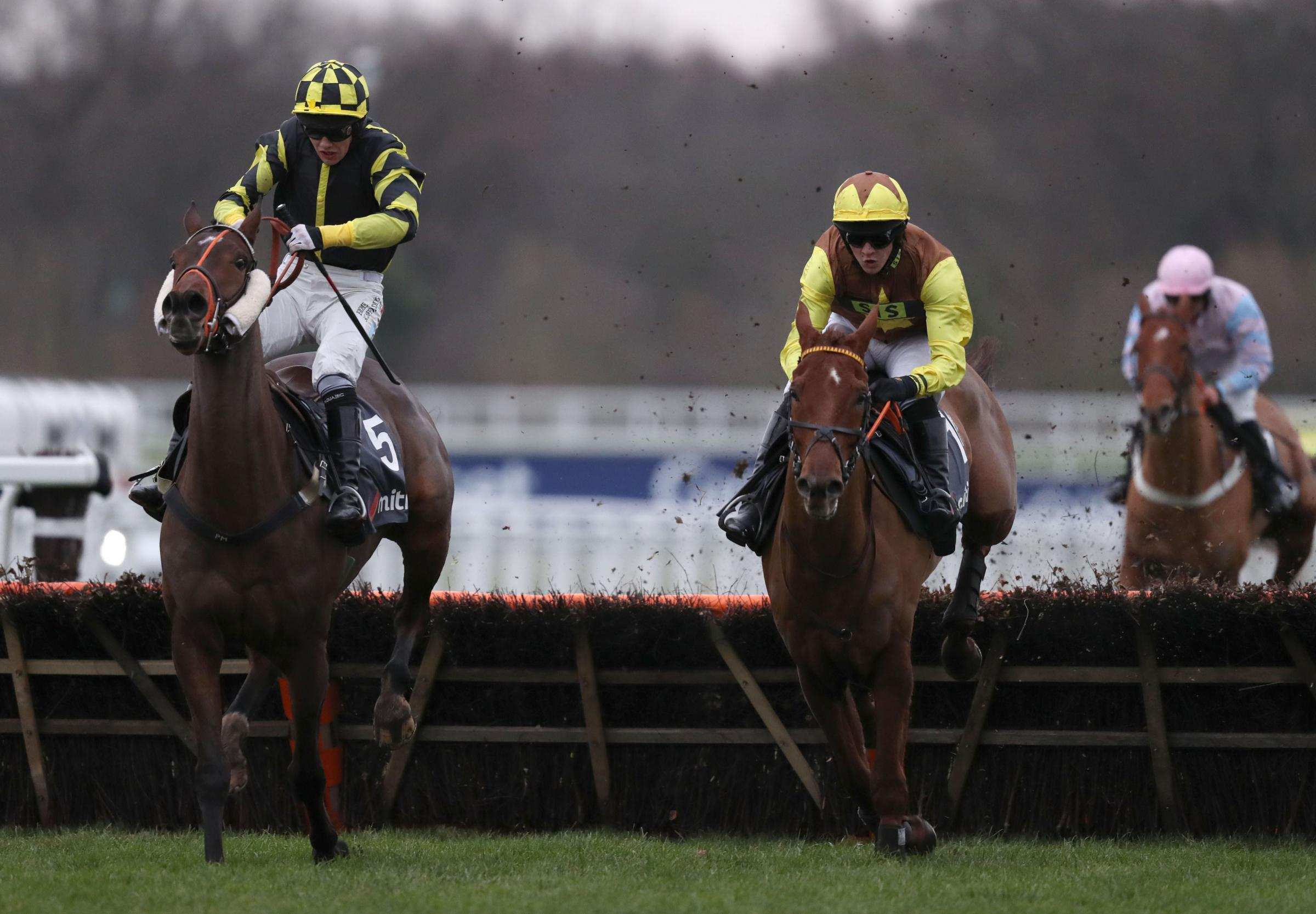 POTENTIAL: Mitch Bastyan (right) in action at Ascot. Pic: PA Wire