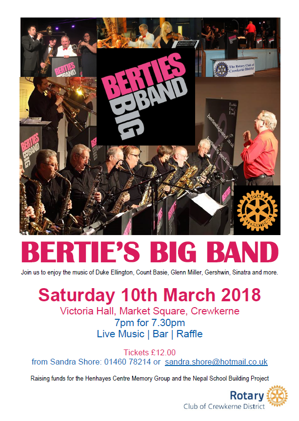 Bertie's Big Band Fundraising Concert