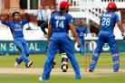 Rashid Khan, left, could be Afghanistan's trump card in June (Jonathan Brady/PA)