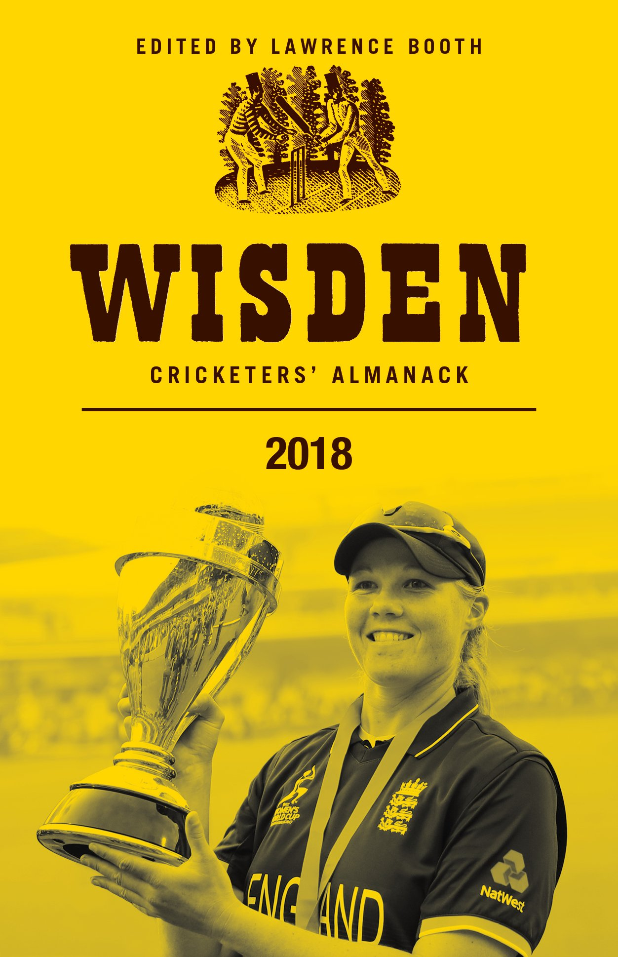 COVER STAR: Anya Shrubsole on the jacket of Wisden.