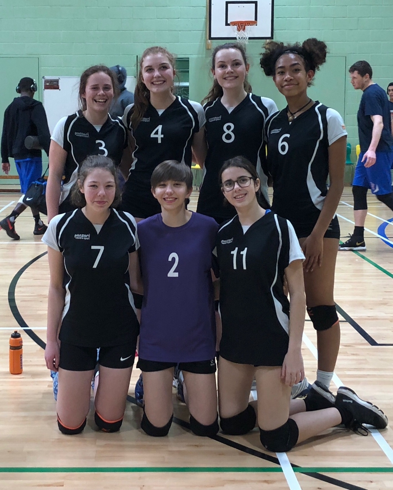 QUALIFIED: Pictured, back row - Kaja Jankowski, Catherine Tolley, Georgia McGovern, Tejah Mossman; front row - Bethan Bailey, Maddie Booker, Amy Hart.