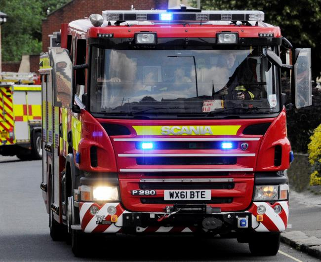 FIRE: Three fire engines from Taunton went to the property in Taunton following reports of a fire