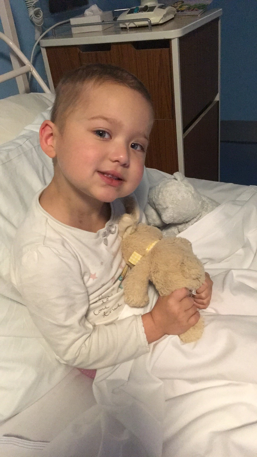 FIGHTING: Sophie Holt, four, is currently receiving treatment for leukaemia