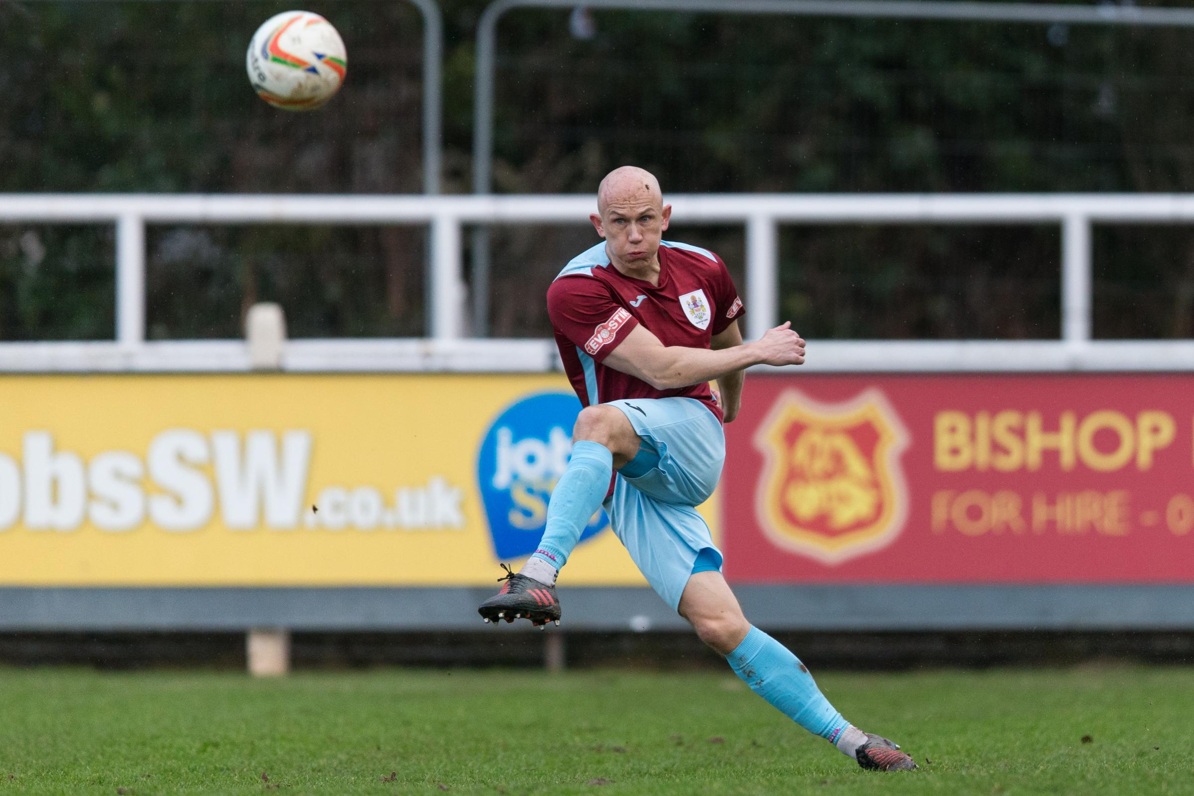 BRACE: Keith Emmerson scored twice to rescue a point for Taunton Town. Pic: Tim Norbury