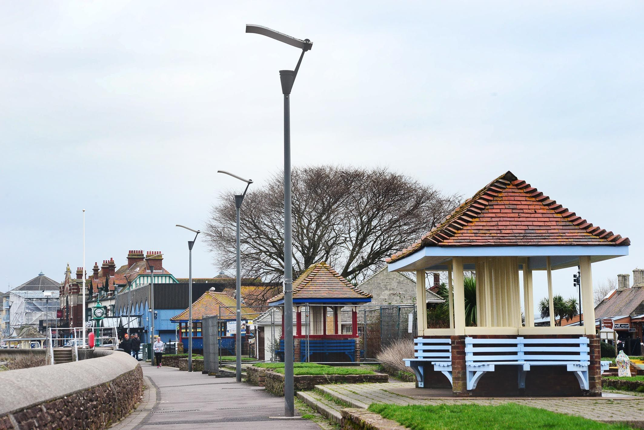 IMPROVEMENTS: Work is already underway on the Edwardian seafront shelters along the Esplanade in Minehead