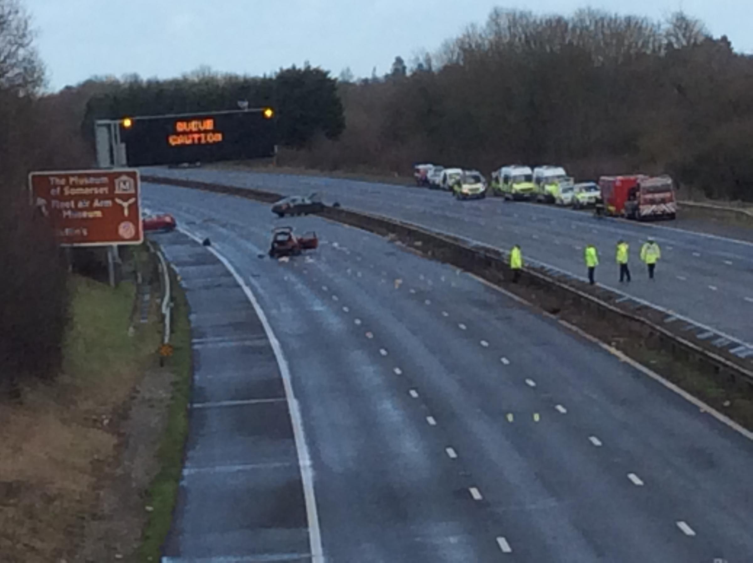 VIDEOS: 10 injured in M5 crash - one woman dead, two in life-threatening condition