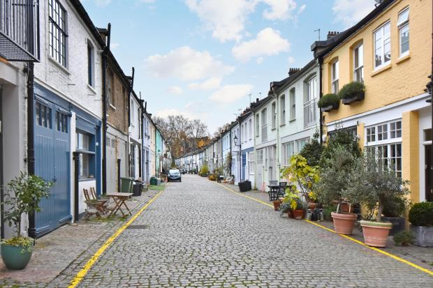 Somerset County Gazette: MARVELOUS  MEWS: This stunning home on 'McMafia Mews' has been put up for sale for £2.5 million - with agents reporting a buzz around the cobbled streets on the back of the hit show. Alex Godman, played by James Norton, lives in a stylish property on