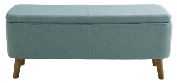 Somerset County Gazette: STORED: Jacobs Grey Upholstered Storage Bench, grey, £250, Habitat. Picture: Habitat/PA Photo/Handout
