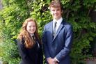 ROLE MODELS: The head boy and girl