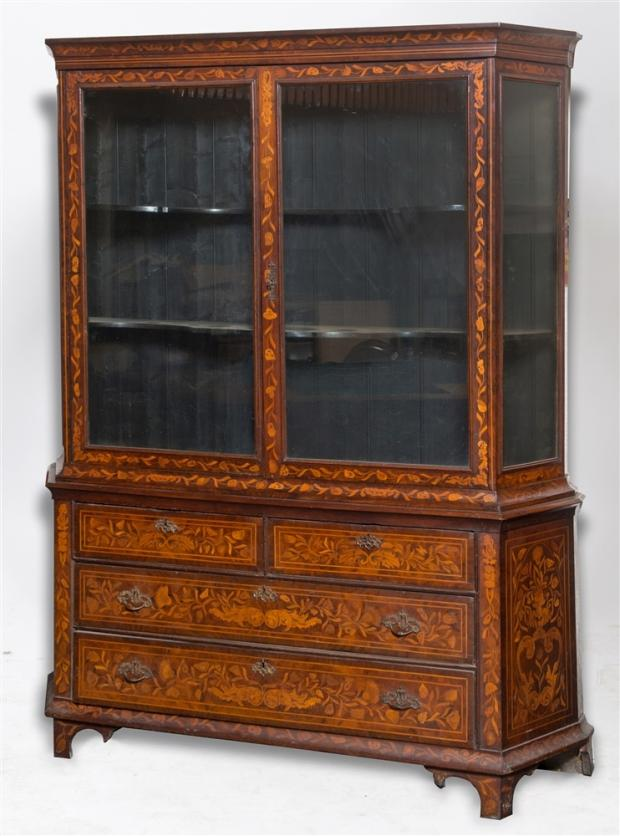 Somerset County Gazette: FINE FURNITURE: This decorative Dutch walnut and floral marquetry cabinet goes under the hammer at Greenslade Taylor Hunt today (Thursday). It has a pre-sale estimate of £400-£600