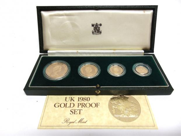 Somerset County Gazette: GOLD: Elizabeth II proof set from 1980 guided at £1,400-£1,500