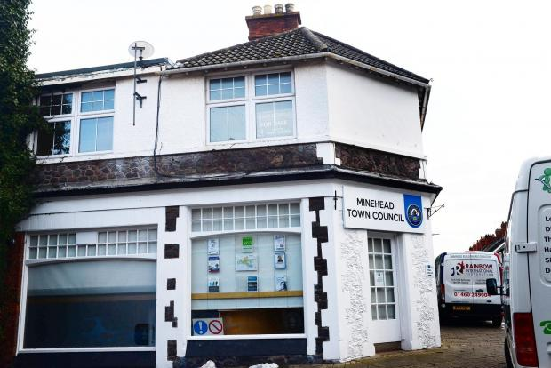 Somerset County Gazette: SHUT: Minehead Town Council's offices are out of action