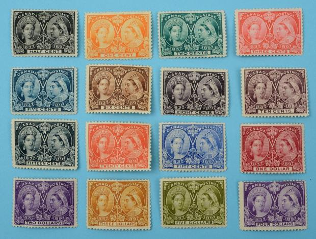 Somerset County Gazette: SUPERB: A set of Canadian 1897 Queen Victoria Jubilee stamps £1,000-1,500