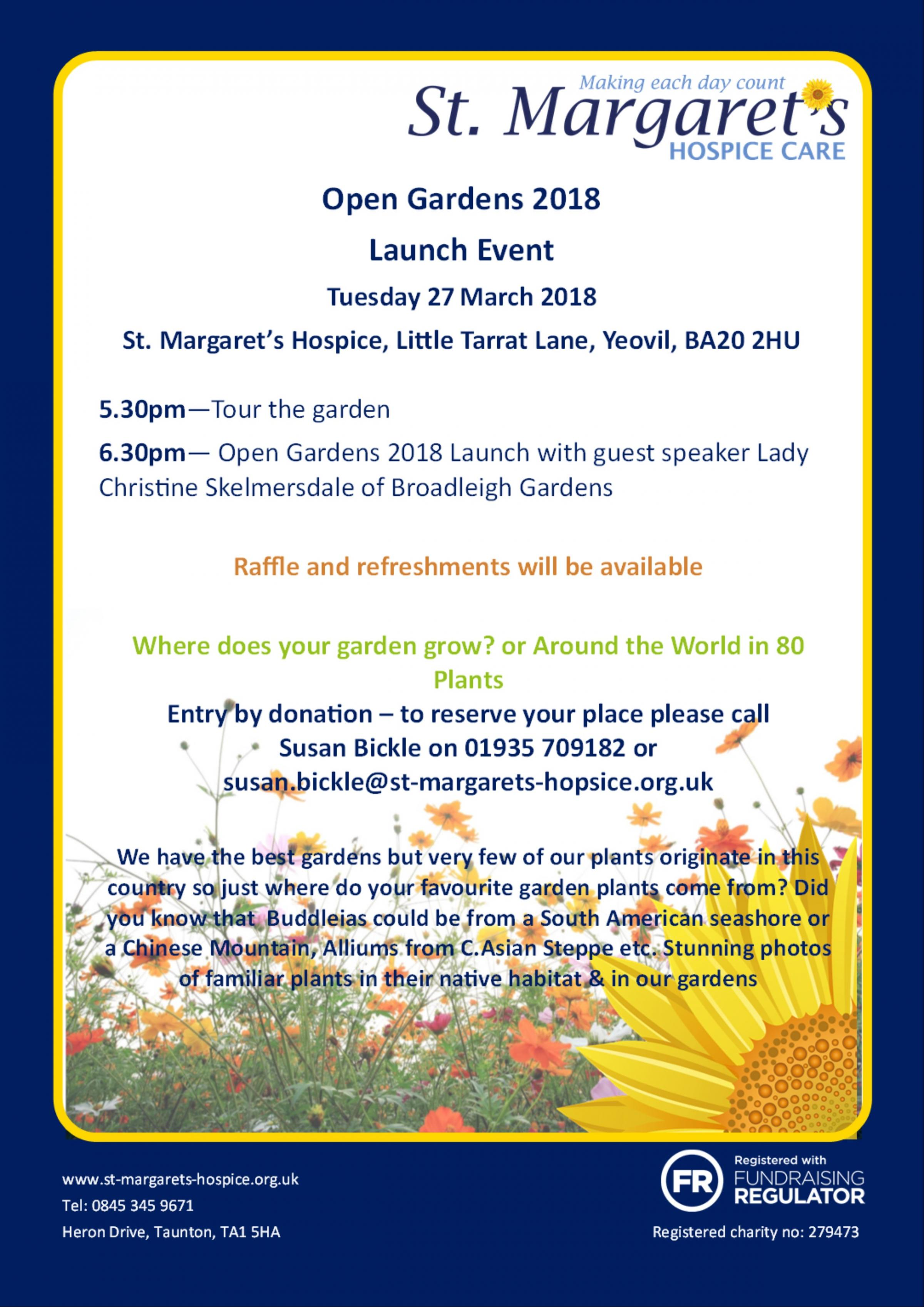 St Margaret's Open Garden Launch