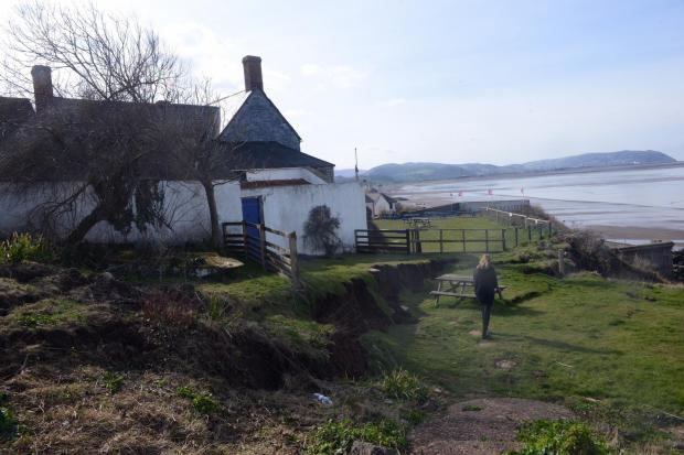 Fears crumbling cliff could spell the end of Blue Anchor Hotel