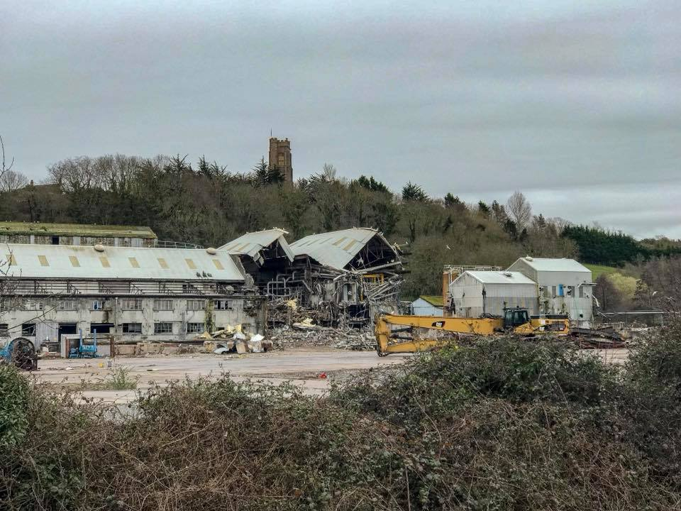 DEMOLITION: Work to clear the Watchet Paper Mill site is expected to take up to two years. PICTURE: Becky Power