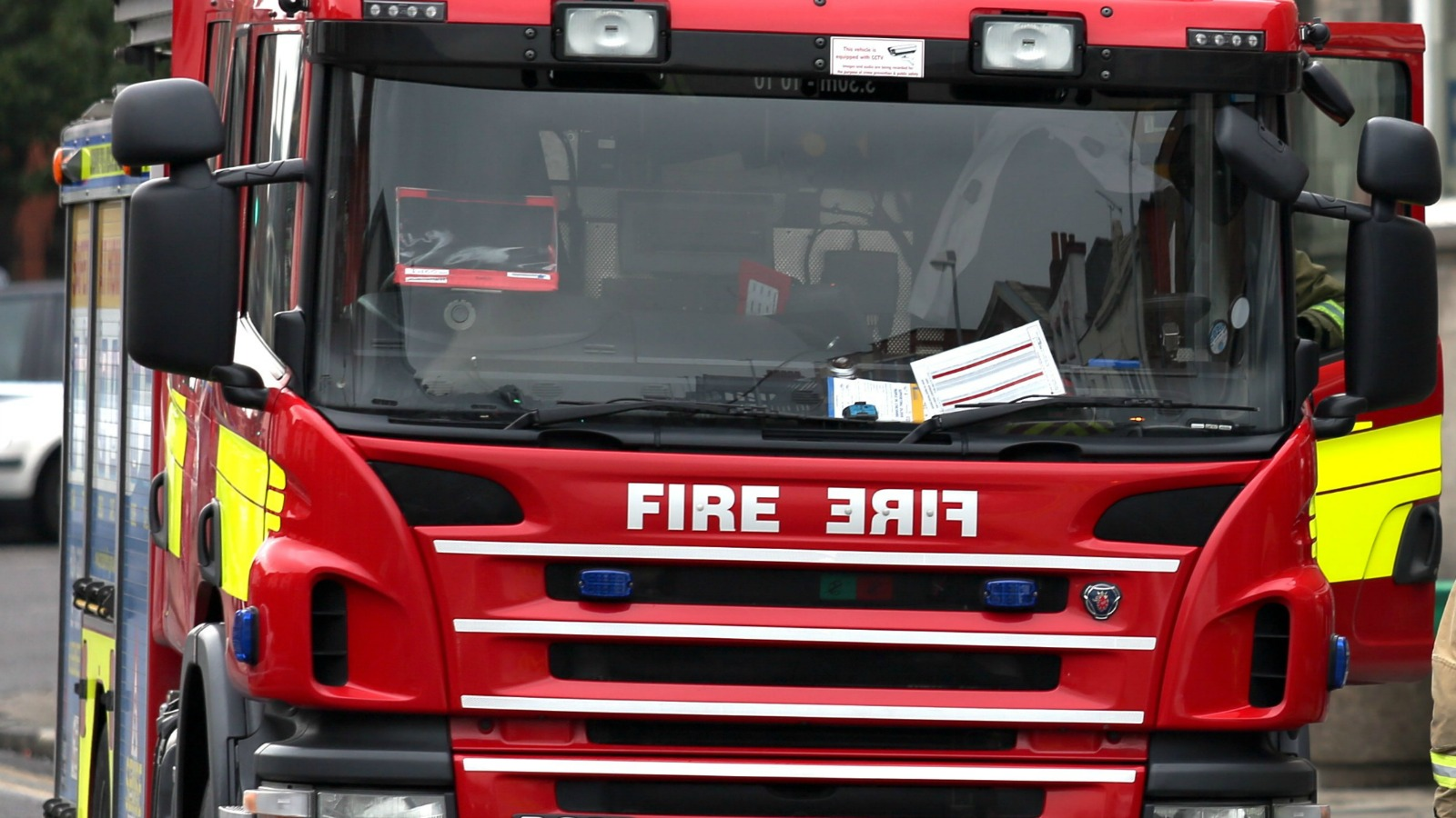 Vehicle badly damaged after a fire in Martock