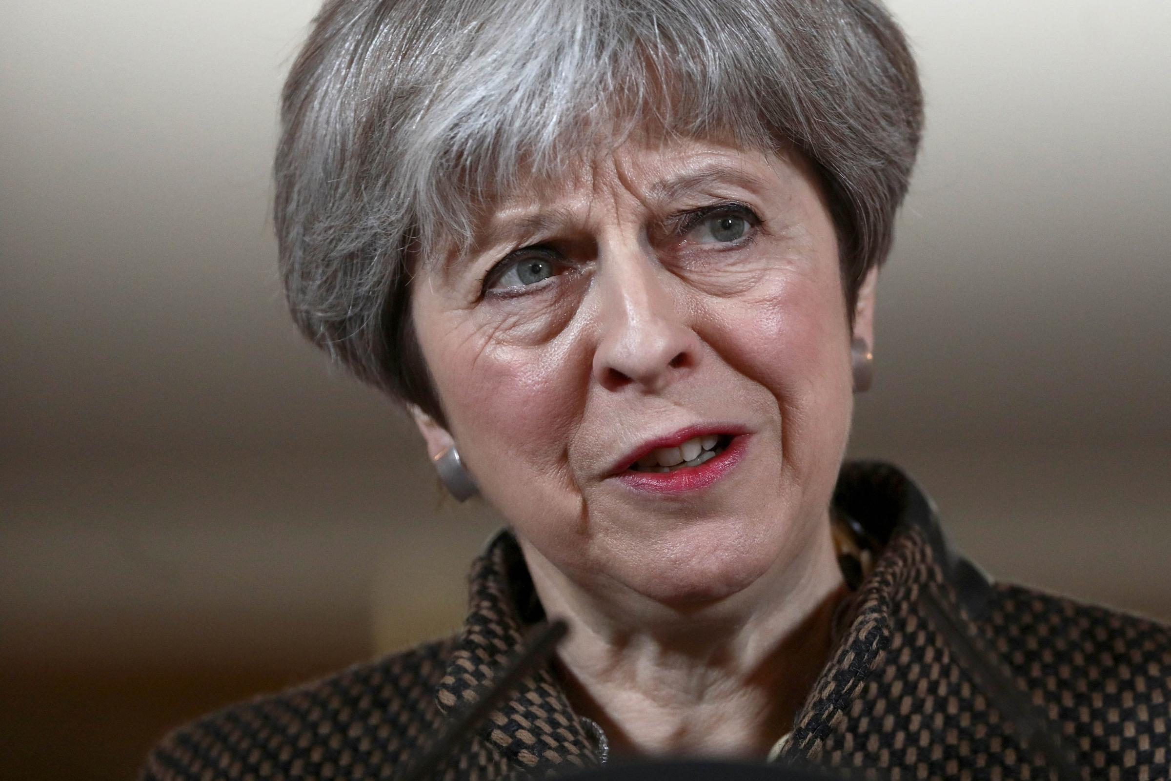 TOUGH TIME: For Prime Minister Theresa May