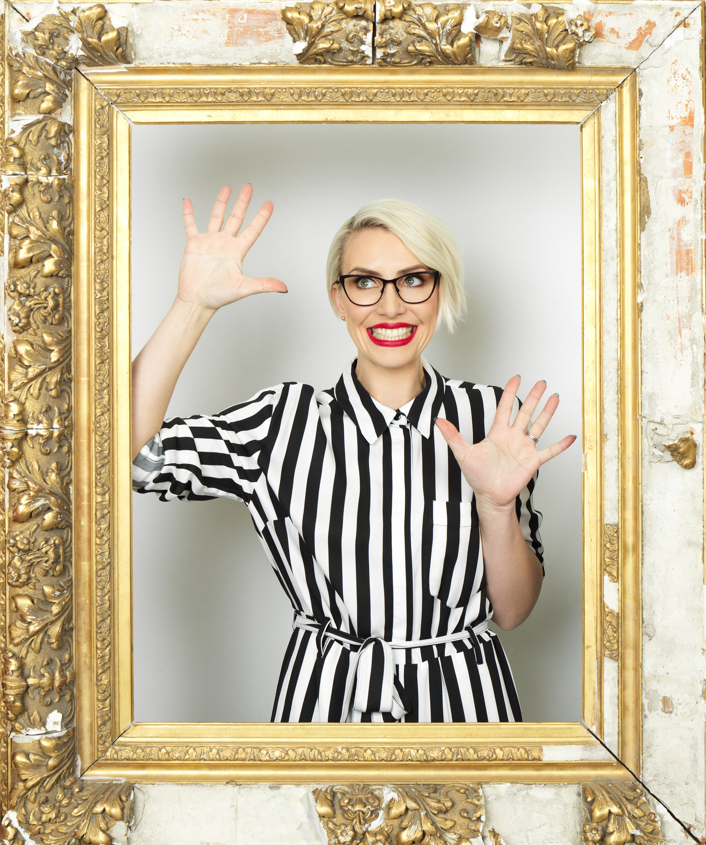 ON THE SEARCH: Steps star, Claire Richards has joined the search for  the Spectacle Wearer of the Year 2018