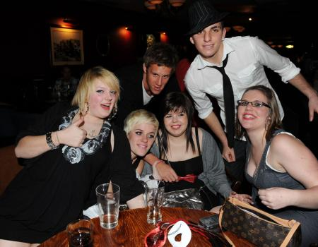 REVELLERS at Lloyds Bar, Wetherspoons, celebrated the arrival of 2009