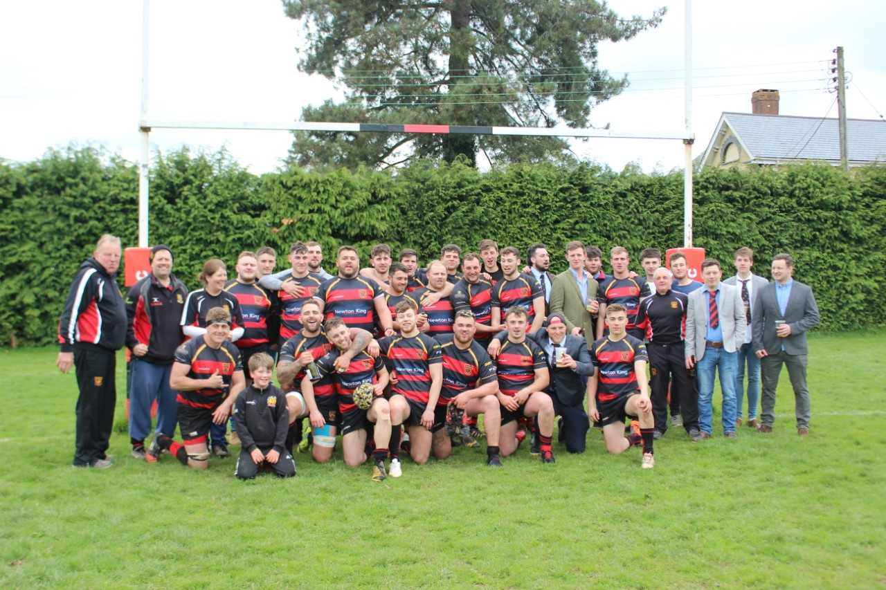 CHAMPIONS: Wellington RFC celebrate winning the Cornwall/Devon title