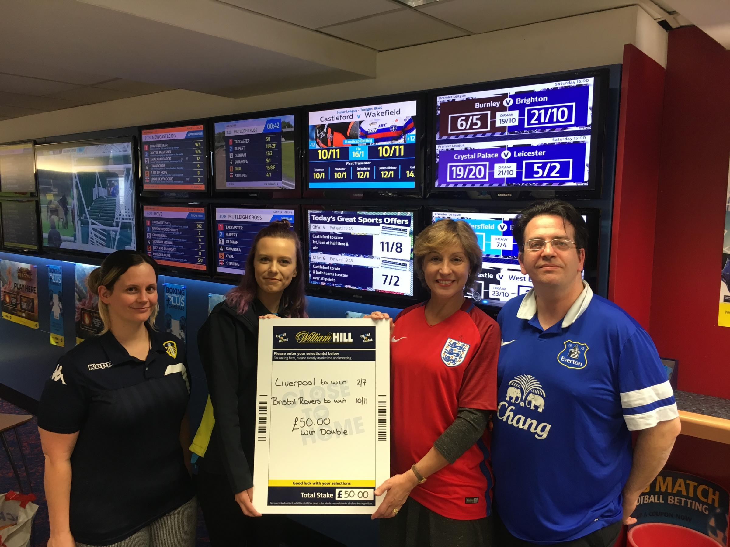 BACKING: Taunton Deane MP Rebecca Pow at a Taunton branch of William Hill
