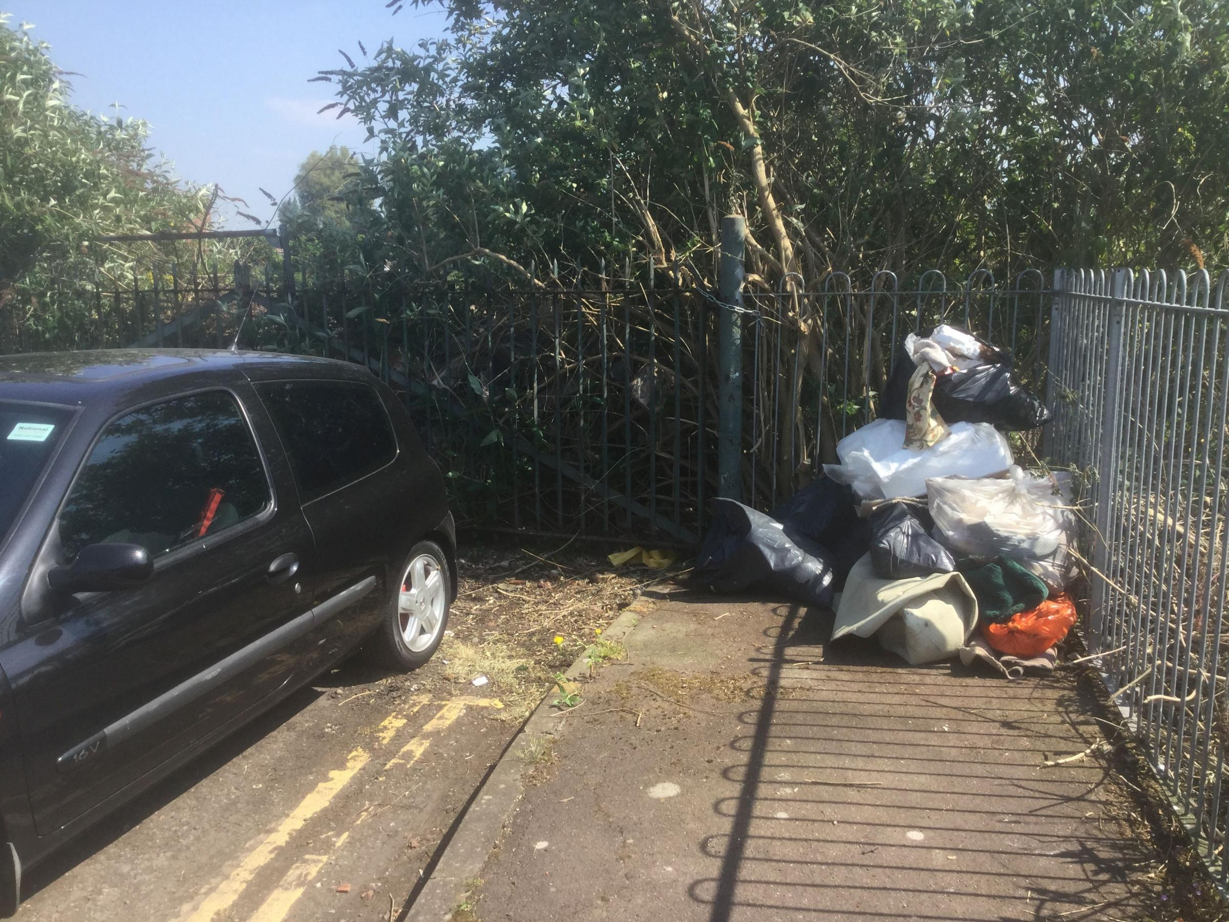 FLYTIPPING: Rubbish dumped in Canal Road, Taunton