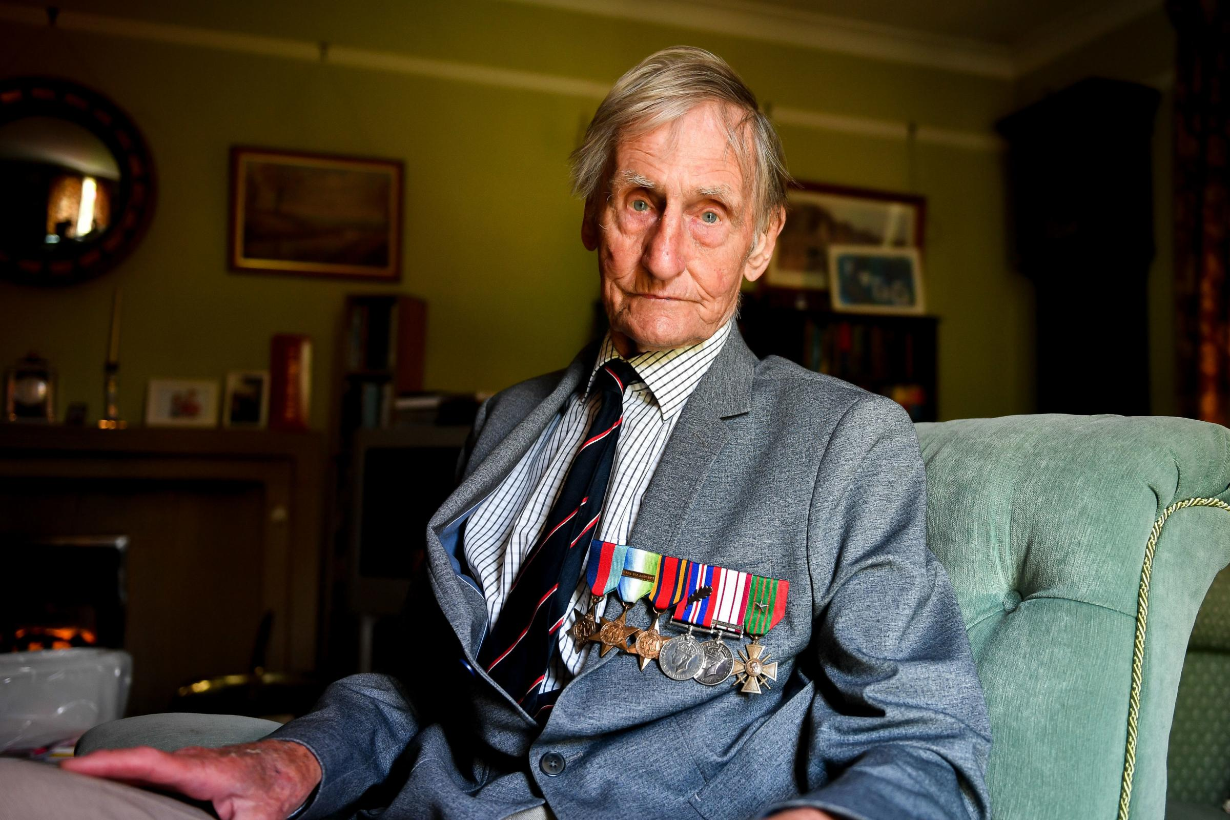 ATTACKED: Taunton war veteran Jim Booth, 96. PICTURE: Ben Birchall/PA Wire