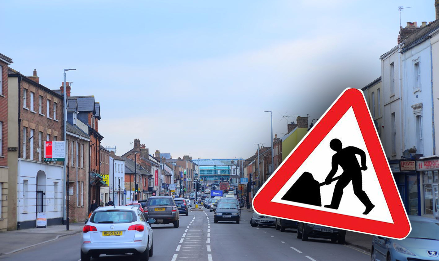 RESURFACING WORK: In East Reach, Taunton, which could cause delays during the evenings