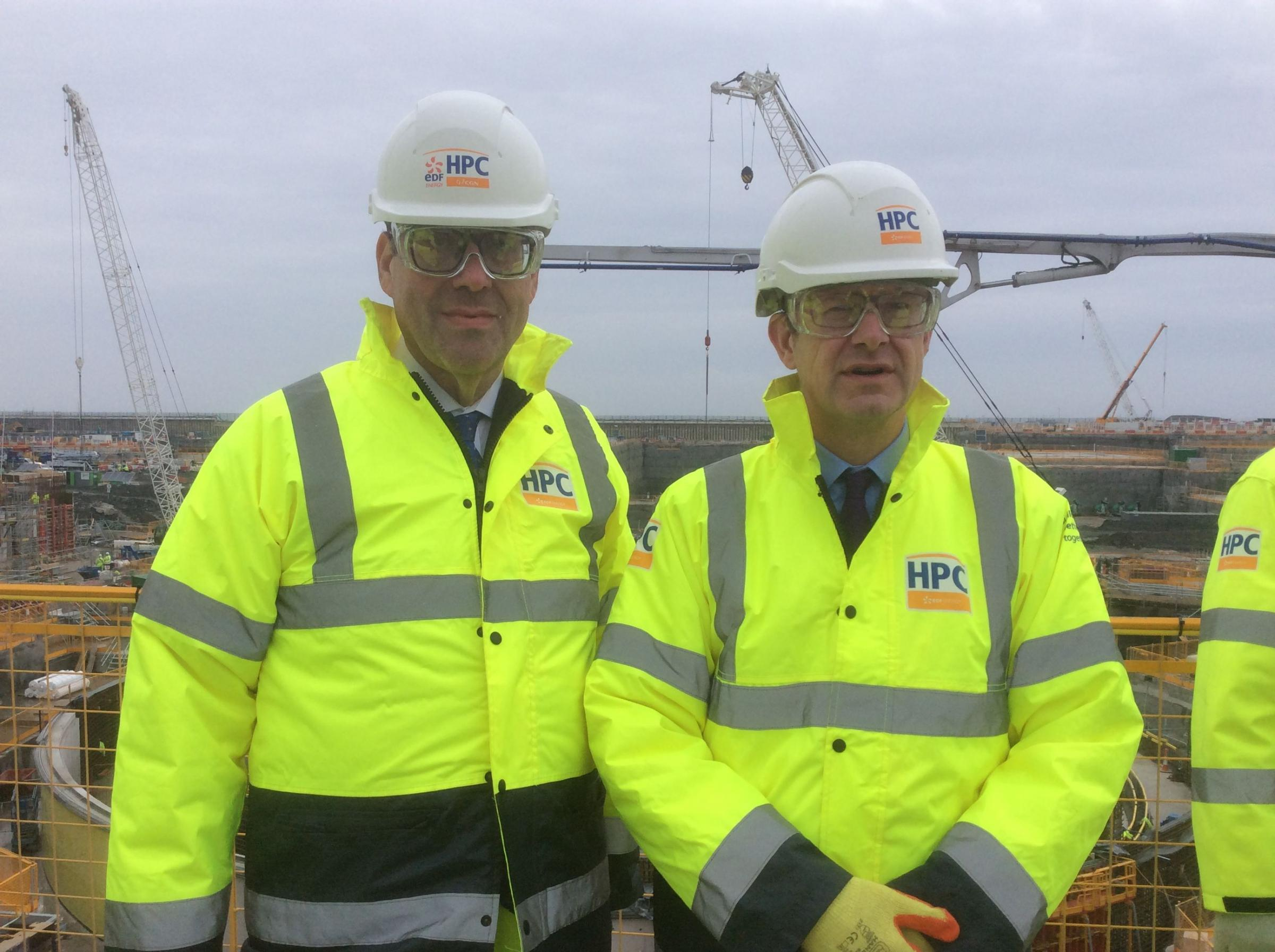 VISIT: Energy minister Richard Harrington and with Business Secretary Greg Clark