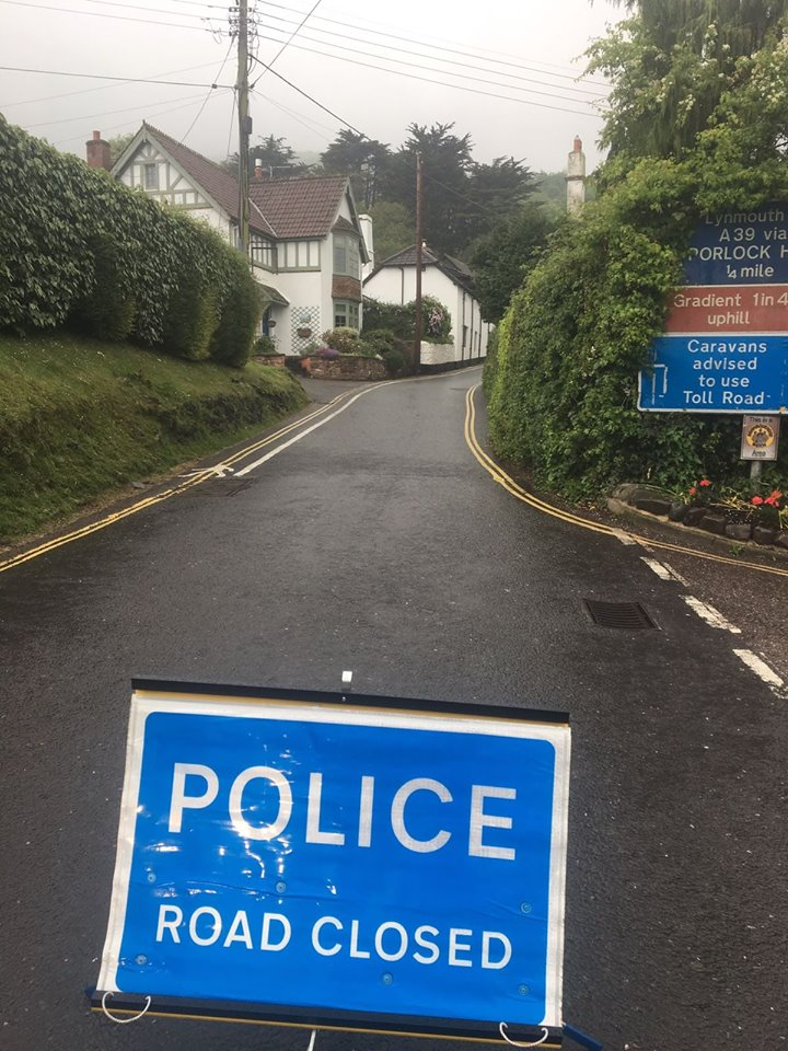 CLOSED: Porlock Hill. Pic: PC Joe Sanderson