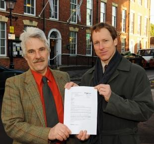 Charles Graham and David Taylor are outraged at the request letter sent by Sedgemoor District Council
