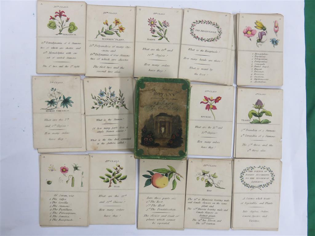 BOTANY: A collection of fifty-two cards explaining about botany, which sold for £500