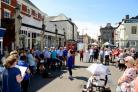 Wellington Street Fair 2018.The town centre busy with crowds and stalls and peformers at this annual fundraising event..
