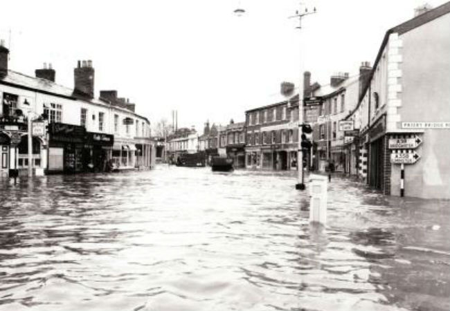 FLOOD PROTECTION: Residents will be able to have their say on the town's flood prevention strategy (Station Road, Taunton, in the floods of October 27, 1960).