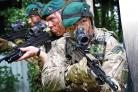 CELEBRATION: Royal Marines from 40 Commando, which has been based at Norton Manor Camp for 35 years