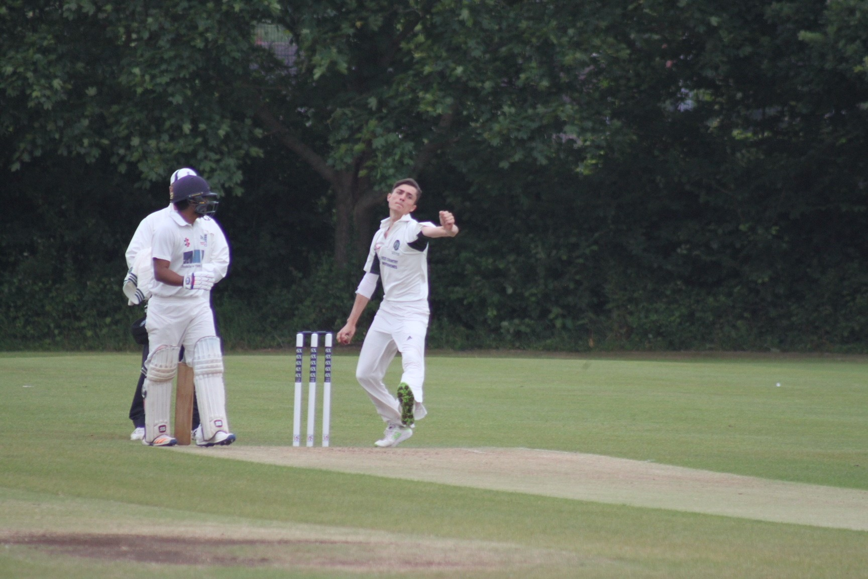 WICKETS: Taunton Deane's Harry Smith took 3-30 against Midsomer Norton. Pic: Lucy Williams