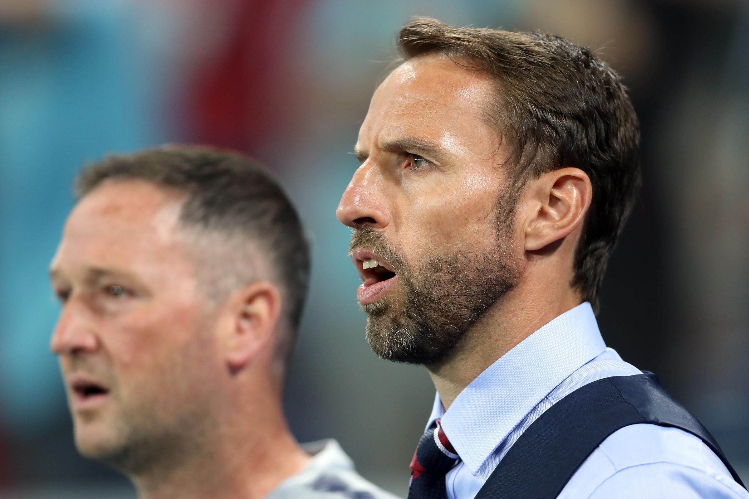 Steve Holland, left, and Gareth Southgate