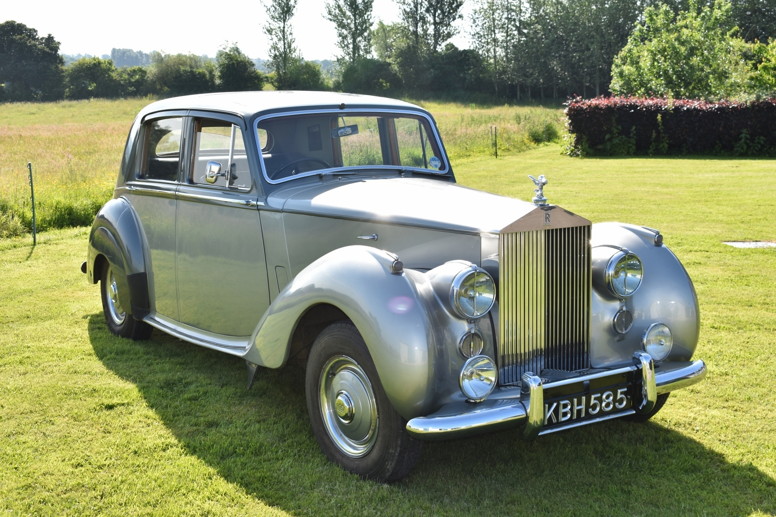 SILVER ROLLS: The 1951 Rolls-Royce Silver Dawn being sold in the Charterhouse auction of classic & vintage cars on Sunday, July 15, £34,000-38,000